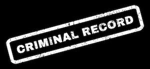 criminal record sign