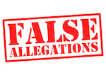 false allegations in stamp-like letters