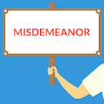 misdemeanor sign
