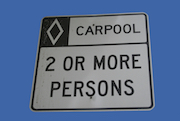 Carpool 20sign 20blue 20sky