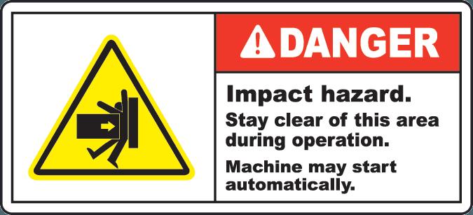 """warning label titled """"danger"""""""