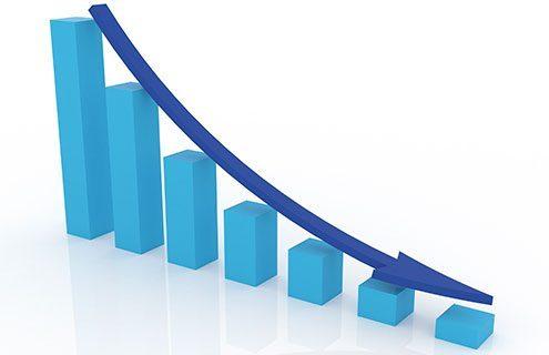 graph representing decreasing income