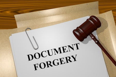 penalty for forging a signature