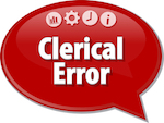 clerical error