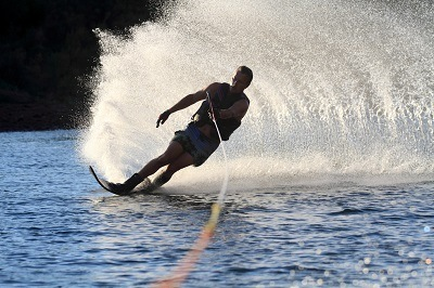 Man Skiing on Water