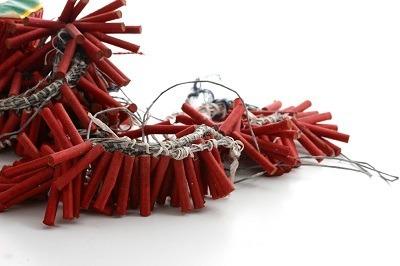 Rolls of firecrackers