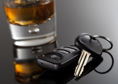 alcohol and car key