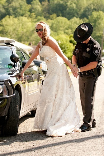 bride being arrested