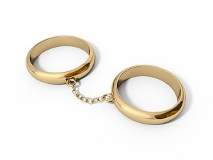 Rings attached by chain