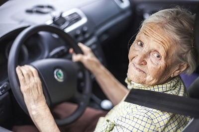 Older Woman Behind The Wheel