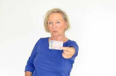 Woman Showing ID Card