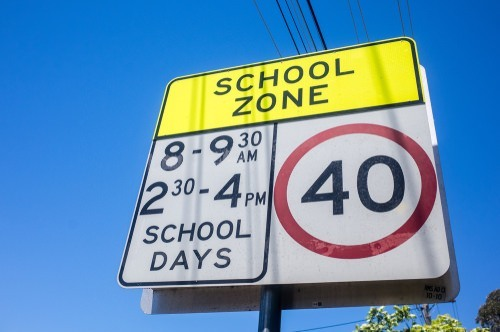 school zone traffic sign