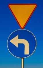 Left turn sign