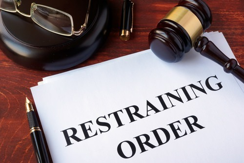restraining order document