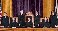 Official photo of the California Supreme Justices in their robes