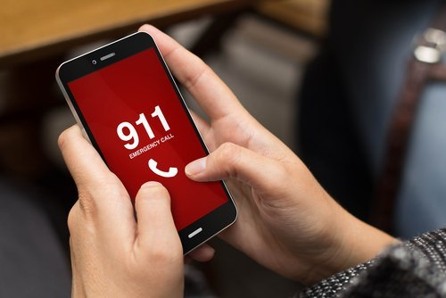 youth calling 911 on smart phone