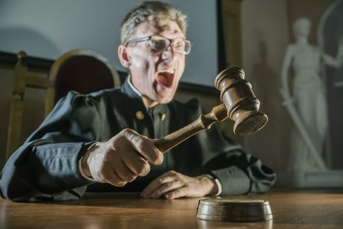 contempt of court angry judge