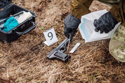 evidence at crime scene