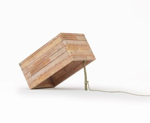 a wooden box set up as a trap