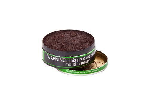 an open canister of chewing tobacco