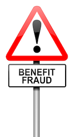 Benefits fraud sign