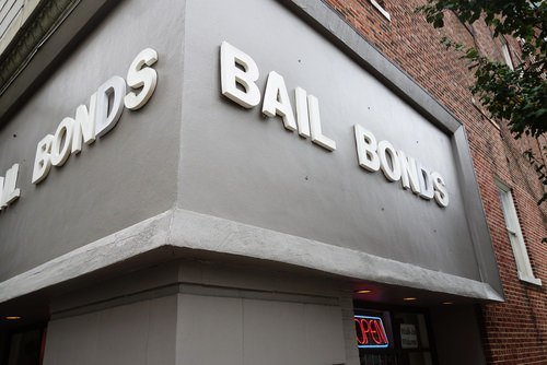 exterior of a bail bond shop