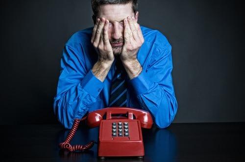 Distressed man phone call ss