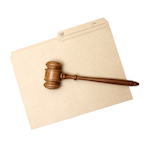 File with gavel