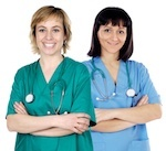 Two female nurses