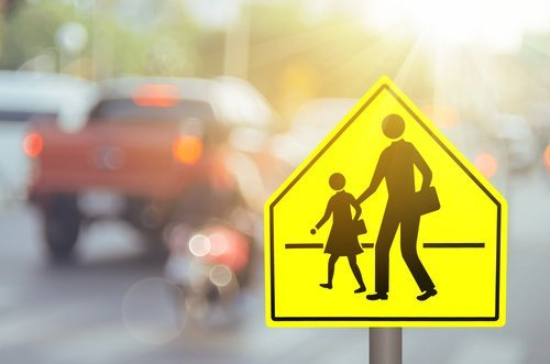 School zone traffic sign ss