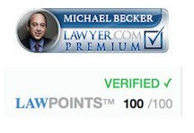 Lawyer.com perfect 100 point rating badge