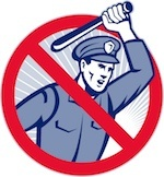 illustration of cop holding up a baton