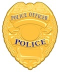 gold police badge