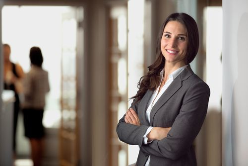 female attorney smiling