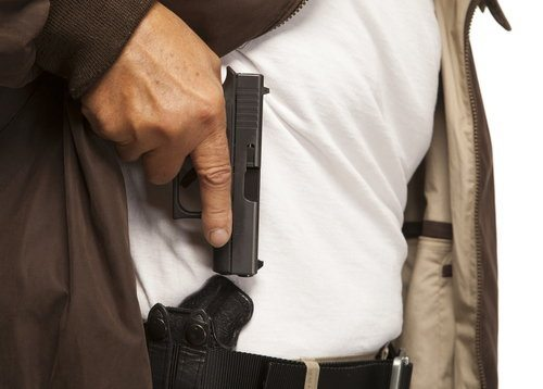 man carrying a concealed weapon in california