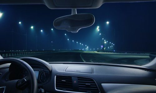 car driving at night with headlights off legal defense california