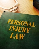 "Law book that says ""personal injury law"""