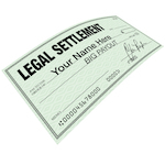 A check for a settlement