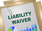 "Paper that says ""liability waiver"""