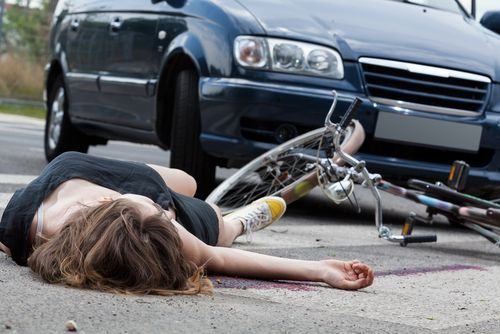 bicyclist unconscious on the ground vc 23105