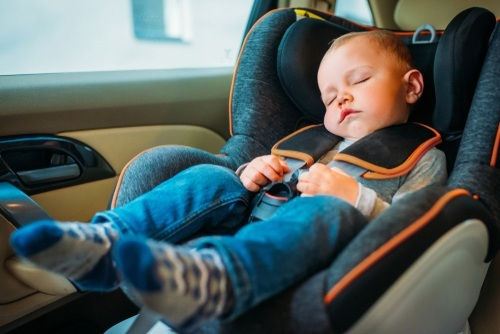 baby in child restraint seat as required per Nevada NRS 484B.157