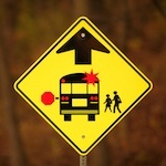 school bus traffic sign