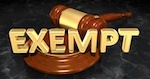 "gavel with ""exempt"" wording"