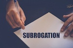 "paper that says ""subrogation"""