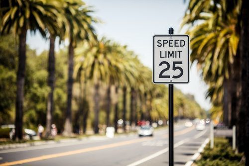 speed limit residential street 25mph california dui speeding enhancement attorneys