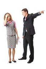 boss firing a woman