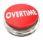 """Red button that says """"overtime"""""""