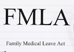 Lettering that spells out FMLA