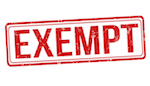 exempt in red font