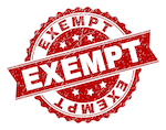 sign that says exempt